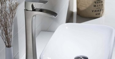 Wovier Brushed Nickel Waterfall Bathroom Sink Faucet Review