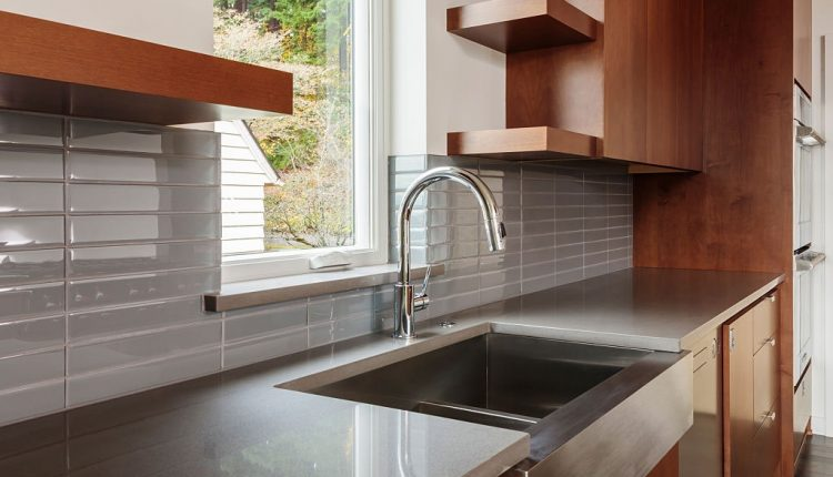 farmhouse sink installation