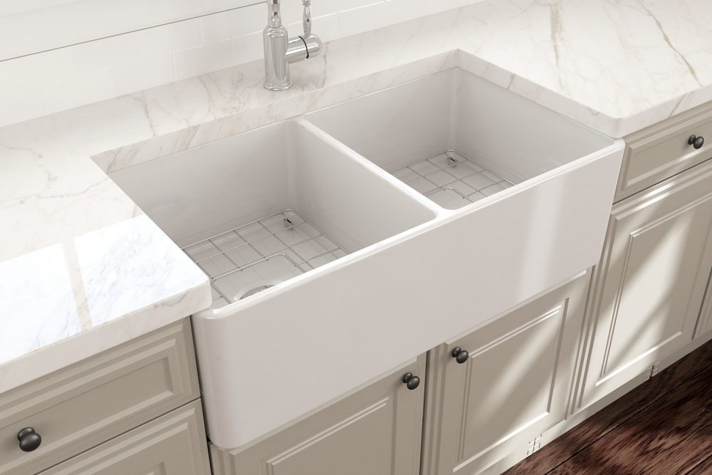 how to clean farmhouse sink