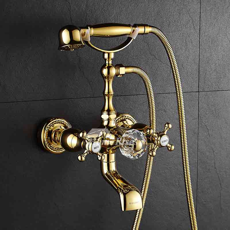 Shower Faucets with Cross Handles