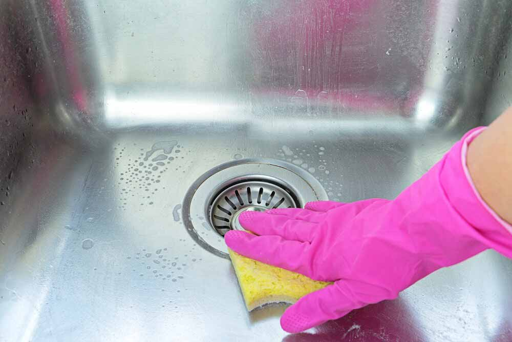protect stainless steel sink